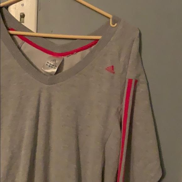grey adidas long sweater
